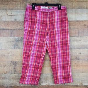 Liz Golf Capri Pants Plaid Jackie Size 8 MM10